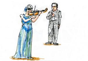 指揮者とヴァイオリニスト